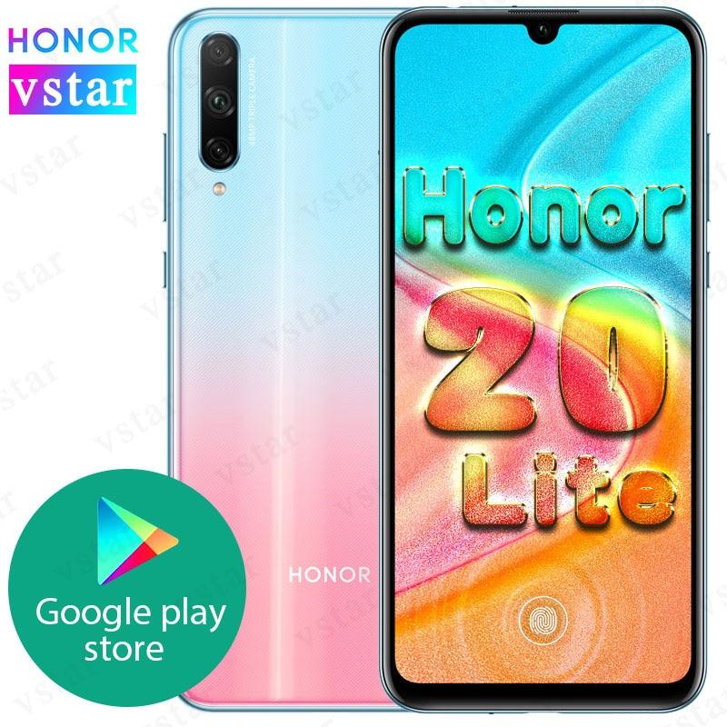 Original HONOR 20 lite SmartPhone 6,3 zoll Kirin 710F Octa Core in-Bildschirm entsperren Quick charge Google Spielen