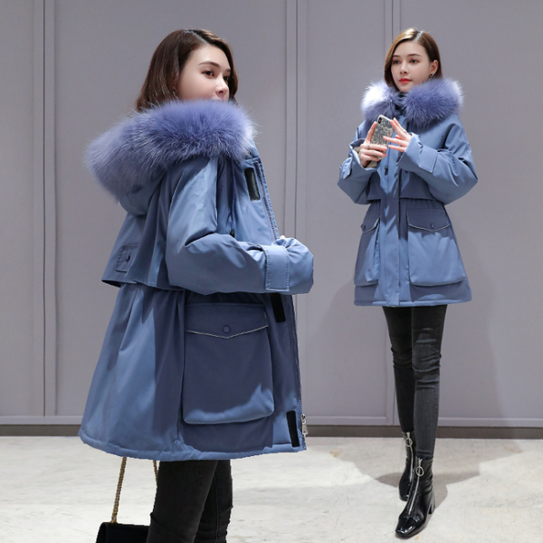 Smlinan Winter Jacket Women Plus Size Loose Hooded Coat Female Thick Warm Down Cotton Padded Jackets Outwear Fur Parkas Mujer