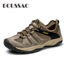 BOUSSAC Outdoor Sports Hiking Shoes For Men Mesh Mountaineering Hunting Trekking Camping Summer Breathable