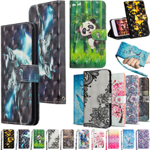 Butterfly Leather Phone Case 6.2 For Nokia 2.3 Wallet Cases Protective Cover Back Cute Panda Cat Flower Pattern With Card Stand panda pattern detachable protective wood back case for iphone 5c brown black