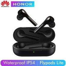 Оригинальные беспроводные наушники huawei Honor Flypods Lite, водонепроницаемые, IP54, управление нажатием, Беспроводная зарядка, Bluetooth 4,2