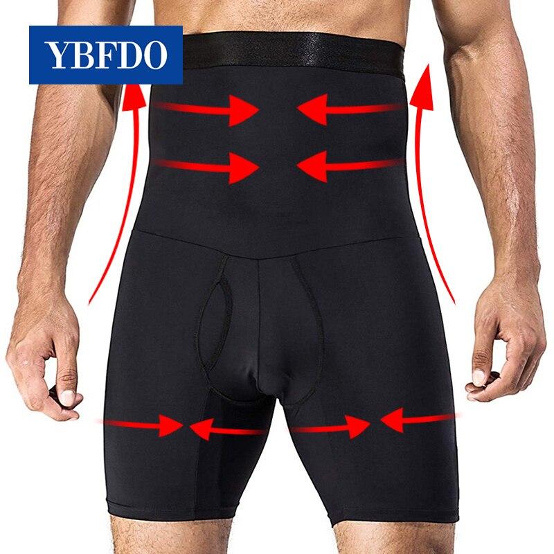 YBFDO мужское корректирующее боди, брюки для похудения, фитнес, высокая талия, стрейч, Abdo, мужское нижнее белье с контролем живота, тренажер для...