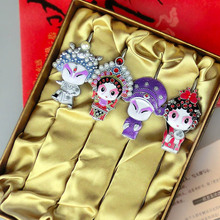 Chinese version of Q cartoon Peking Opera mask bookmarks four sets gift boxes to send students foreign business gifts
