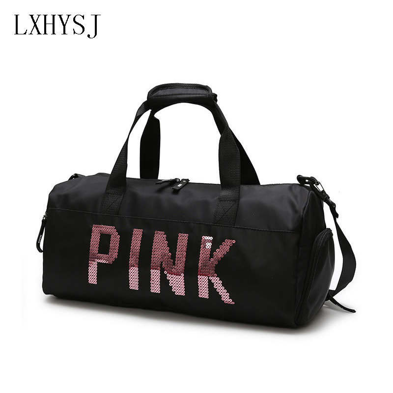 Nylon Travel Bag Men Travel Shoulder Bags Waterproof Hand Luggage Duffle Bag High Capacity Women's Bag With Shoe Position