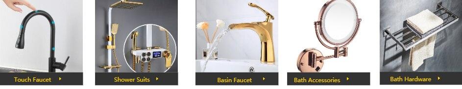 H85eaa0c7a4d44a4f9f89d1fcba05891do Digital Shower Set Luxury Black Gold Thermostatic Shower System Rainfall Spa Shower Head Brass Bathtub Faucet Digital Shower Set