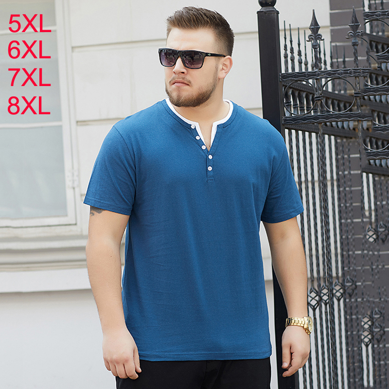 Plus <font><b>size</b></font> 6XL 7XL 8XL V Neck <font><b>Men's</b></font> <font><b>Polo</b></font> <font><b>Shirt</b></font> <font><b>Big</b></font> Tall Casual oversized Tee <font><b>shirts</b></font> Fat Mans undershirt solid Cotton <font><b>Polos</b></font> <font><b>Men</b></font> image