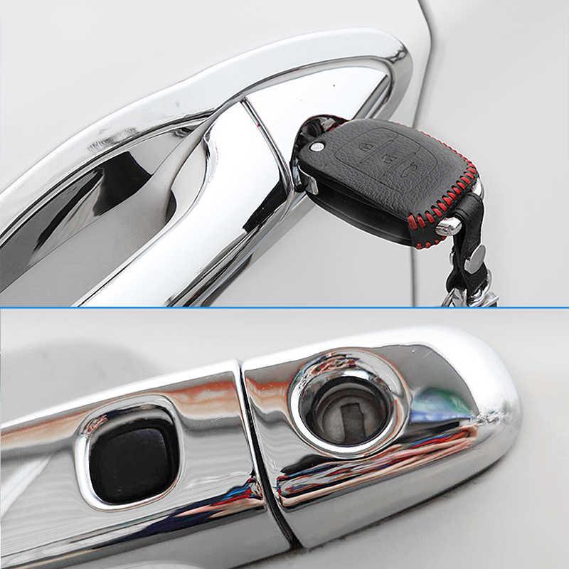 CR-V luxuoso Chrome Maçaneta Capa Guarnição Set para Honda 2007 ~ 2011 CRV CR V 2008 2009 2010 Acessórios Do Carro Adesivos