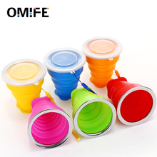 Omife 270ml Travel Cup Stainless Steel Silicone Retractable Folding Cups Telescopic Collapsible Camping Mug Coffee Outdoor Sport tea cup travel cup stainless steel silicone retractable folding cups telescopic collapsible coffee cups outdoor sport water cup
