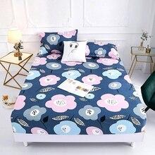 1 ud. Colchón de cama de impresión 100% poliéster con cuatro esquinas y hojas de banda elástica gran venta