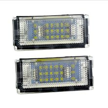 Good New 1Pair LED Car LED License Plate Light Auto Cars Number Plate Lamp Signal Light for BMW E46 4D (98-03) Car Styling стоимость