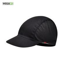 Wosawe быстросохнущая черная велосипедная шапка головной шарф