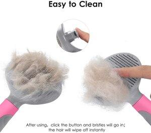 Image 5 - Benepaw verimli kendini temizleme Slicker Pet bakım fırçası küçük büyük köpekler kediler rahat güvenli kaymaz tarak evcil hayvanlar için