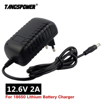 12.6V 2A 18650 Lithium Battery Charger for 12V Li-ion Portable Electric drill Plug DC 5.5mm*2.1mm