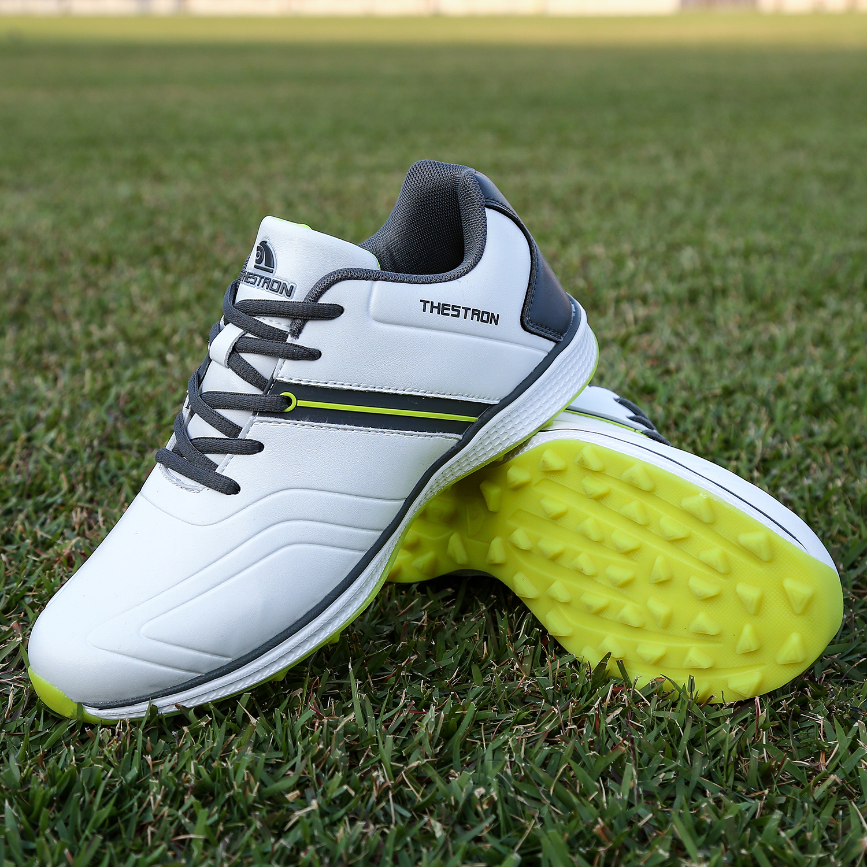 golfe clássico branco preto spikeless golfe esporte