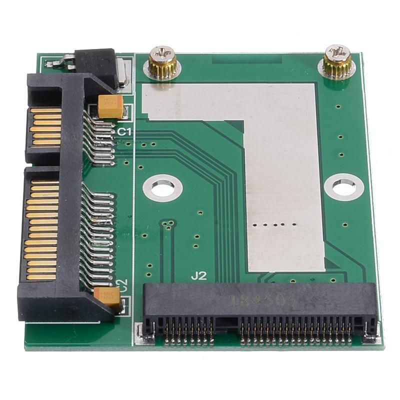 Mayitr 1pc Mini PCI-E MSATA SSD to 2.5'' SATA 6.0 GPS Converter Adapter Card Module Board for Computer Cables Connectors