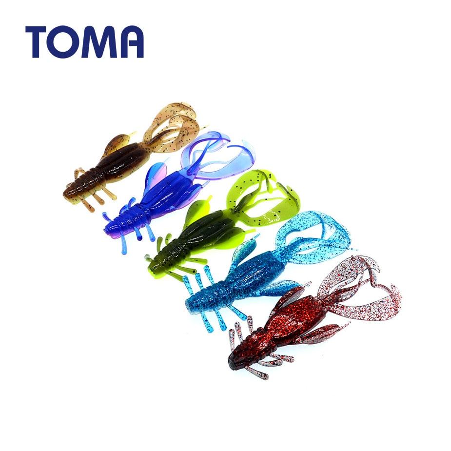 TOMA 4 шт. мягкие приманки специальной формы червяк приманка для рыбалки с одним хвостом мягкие креветки приманки Двойные Цвета приманки для рыбалки|Наживки|   | АлиЭкспресс