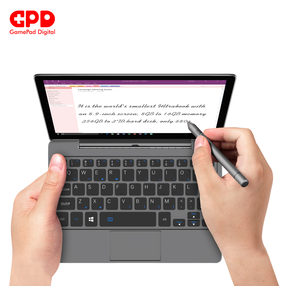 Gaming Laptop GPD P2 Max Laptops With Windows 8.9 Inch Notebook Inter Core M3-8100y 16GB 512GB Mini Laptop Notebook ноутбук