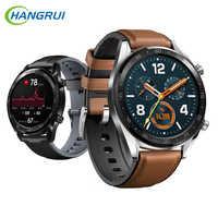 22mm correa de cuero para Huami Amazfit GTR 47mm correa de reloj inteligente Fitness deporte pulsera para Amazfit Pace/Sratos 2/2 S/3