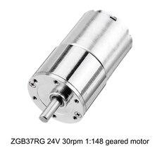 ZGB37RG 24V 30rpm 1:148 Reduction Motor 37mm Geared Motor Mini Electric Gearbox Reducer DIY Tool