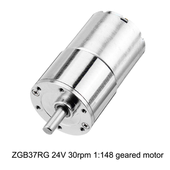 цена на ZGB37RG 24V 30rpm 1:148 Reduction Motor 37mm Geared Motor Mini Electric Gearbox Reducer DIY Tool