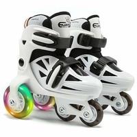 Double Line Roller Skates For Kids Adjustable 4 wheel Skates Shoes Professional PU Flashing Wheel Children Rollerblade Sneakers
