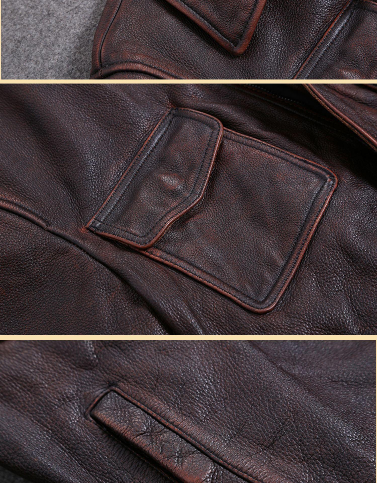 H85ec95555fa94fada1bd21e1c6bd435fX AYUNSUE Vintage Genuine Cow Leather Jacket Men Plus Size Cowhide Leather Coat Slim Short Jacket Veste Cuir Homme L-Z-14 YY1366