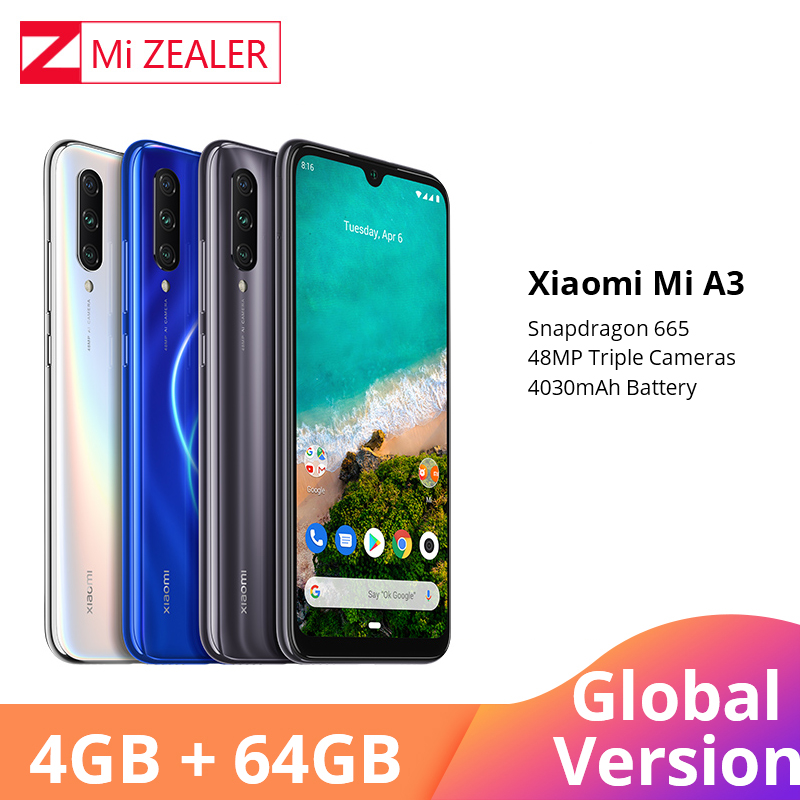 Global Version Xiaomi Mi A3 MiA3 4GB 64GB Smartphone  4030mAh 6.088