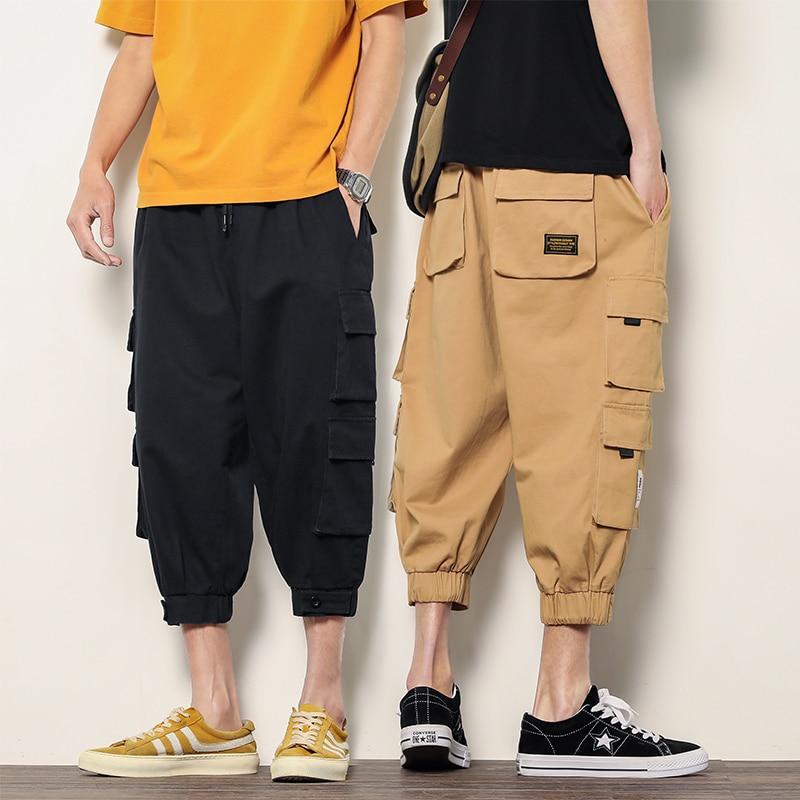 New loose sport shorts men's cool summer basketball shorts hot sale sports pants beam feet cropped pants fashion trend men's