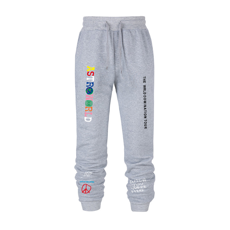 2020 winter thick men's brand printed trousers jogging men's sports pants casual pants running fitness pants