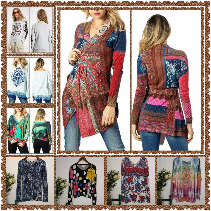 2020 DESIGUAL Spanish fashion Women's new stylish high quality sweaters for