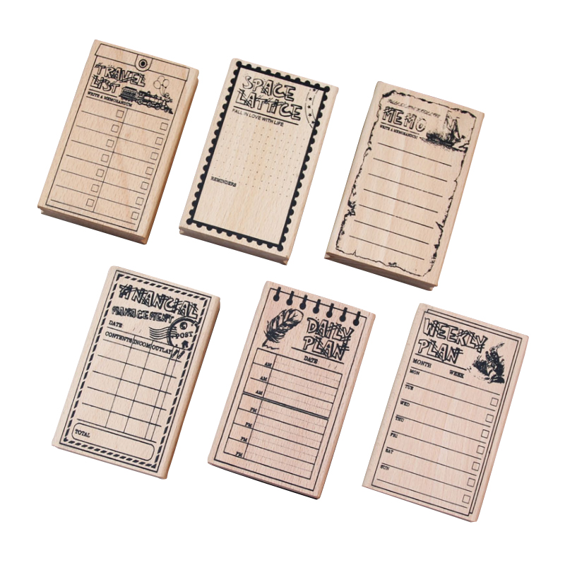 1pcs/lot Vintage Mulifunction DIY Wooden Rubber Stationery Scrapbooking Greeting Letter Wood Stamps