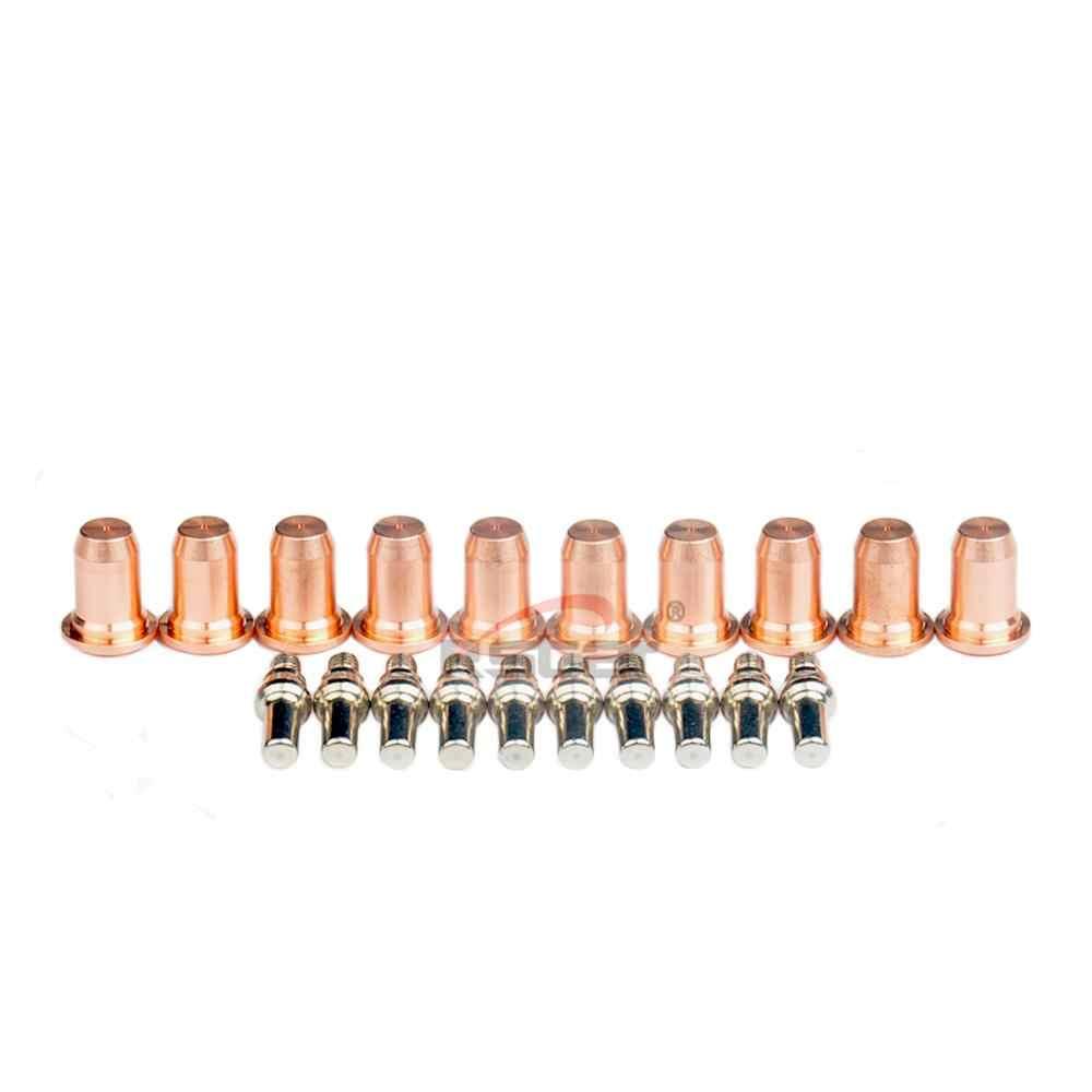 20PC PT60 PT40 IPT-60 IPT-40 Cắt Plasma Đèn Pin Đầu Phun Điện Cực Đầu