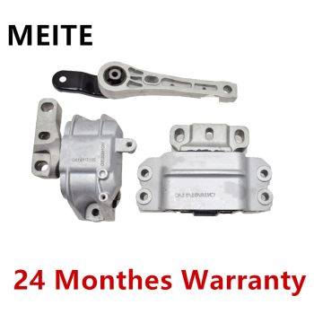 1K0199555 1K0199262 3PCS Rear&Front Right Left Engine Transmission Motor Mount Set For Audi A3 S3 VW Golf Jetta Touran Skoda 1
