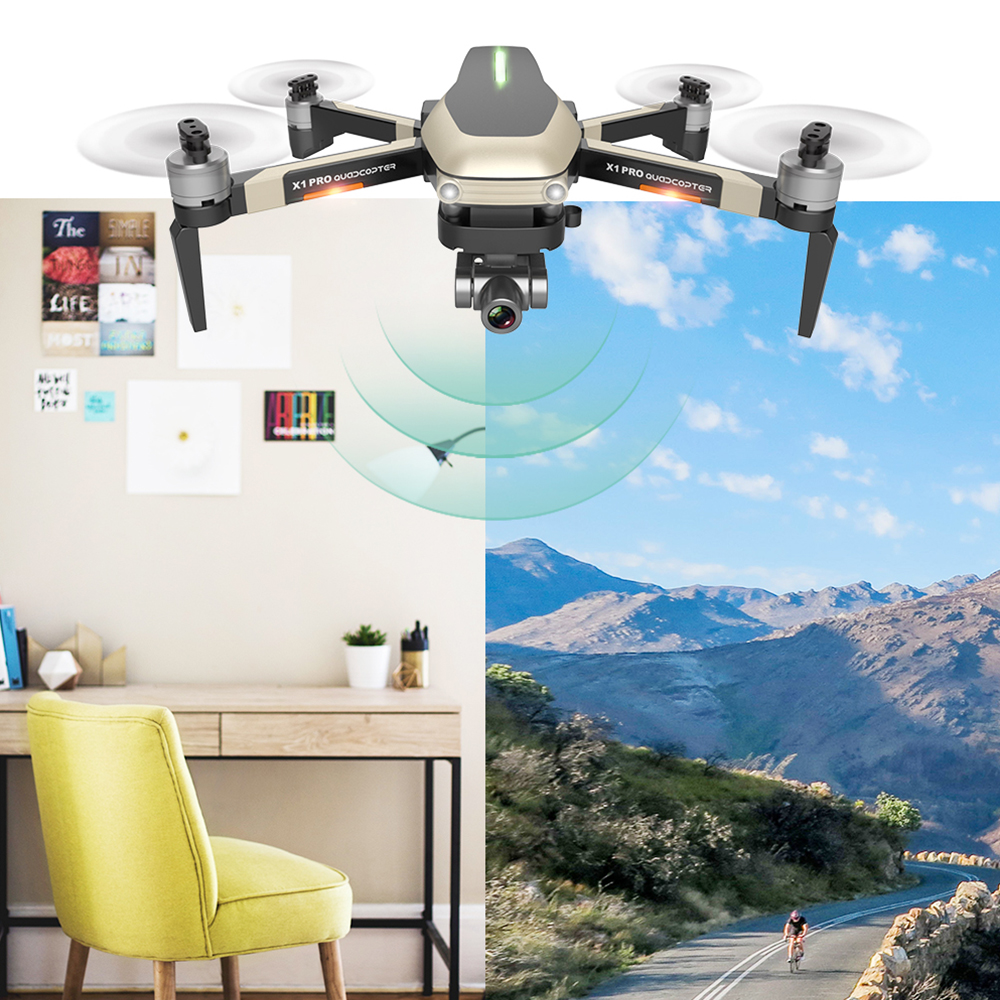 lowest price X1 PRO 4K 1080P Video Gimbal Full HD Camera RC Drone FPV GPS 5G WIFI Professional Quadcopter Follow Me 25 Minutes Flying Time