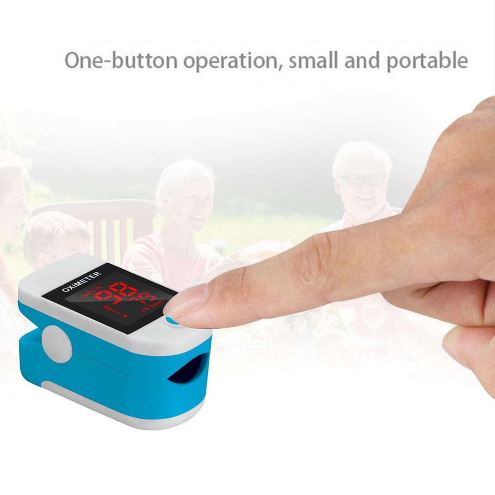 Blood Oxygen Monitor Finger Pulse Oximeter Potable Oxygen Saturation Monitor Heart Rate Household Oximetry Monitor 1 Pcs