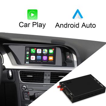 ISUDAR bezprzewodowy Carplay Box dla AUDI A1 A3 A4 A5 A6 A8 S5 Q3 Q5 Q7 MMI 2G 3G RMC MIB System dla Apple Android Auto wideo moduł tanie i dobre opinie CN (pochodzenie) Jedno złącze DIN