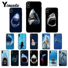 Yinuoda ocean Whale Sharks fish Black TPU Soft Phone Case Cover for iPhone 6S 7 7plus 8 8Plus X Xs MAX 5 5S XR 11 Pro Max(China)