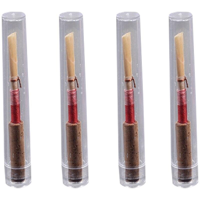 Aspiring 4pcs Oboe Reeds, Strength Medium Soft Handmade Oboe Reeds With Cork Jade White