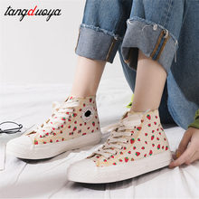 painting sneakers women vulcanized canvas shoes women spring