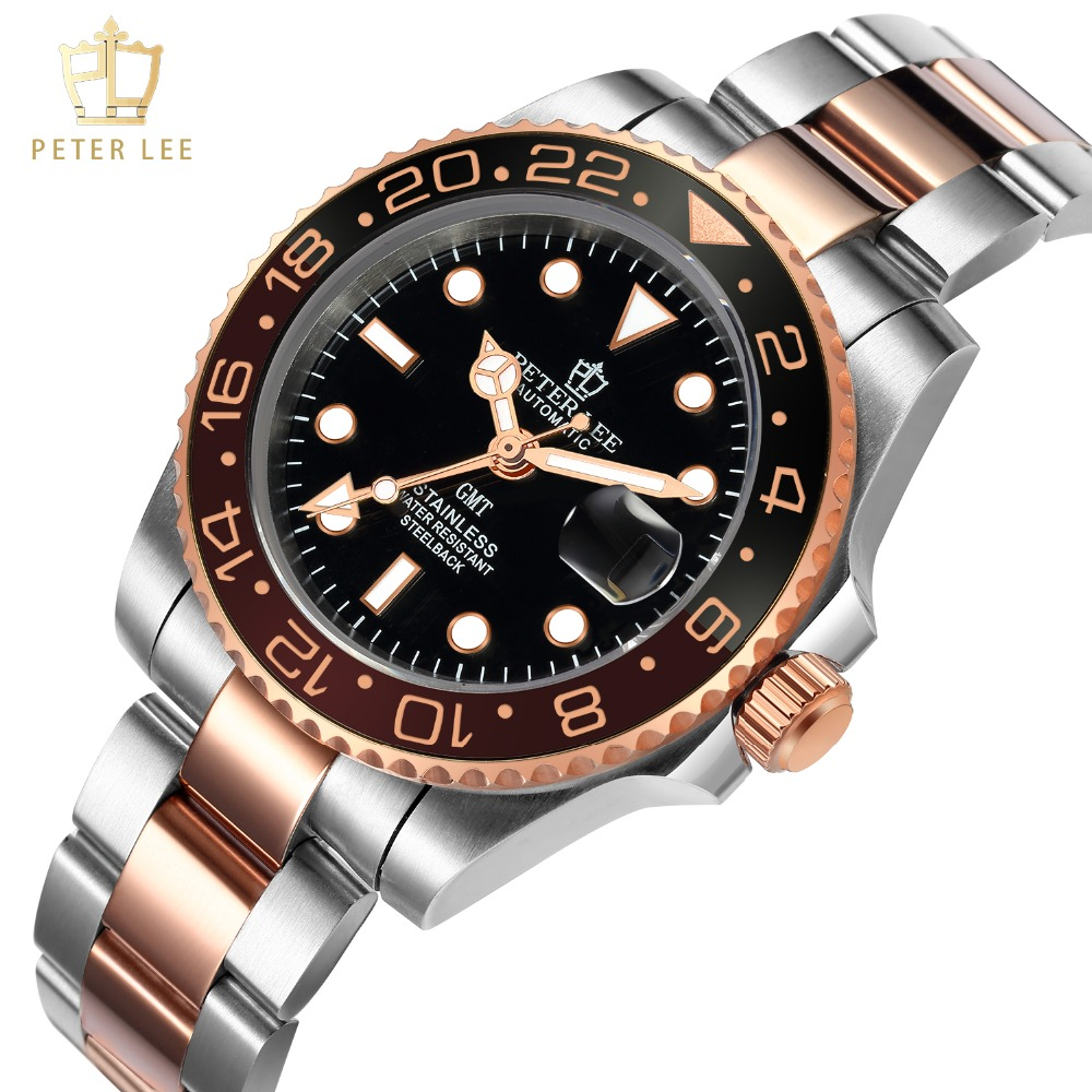 H85edd830a9794ca48b01f7f449516566i Best Watches For Men   PETER LEE Automatic Watch   Classic Ceramic bezel luxury daydate 40mm mechanical men watches noctilucous stainless steel rose gold men automatic watch