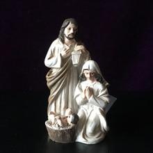 Высококачественный бутик святого Иосифа маленького Иисуса Святого семьи три скульптуры, как домашнее автомобильное подвесное украшение для защиты мира