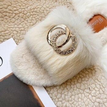 Winter Cozy Flat Women House Home Slipper Faux Furry Warm Shoes Woman Indoor Slides Flats Female Fur shoe
