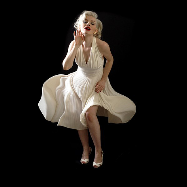White Custom Made Pleated Chiffon Hot Sexy Marilyn Monroe Mother Of The Bride Dresses