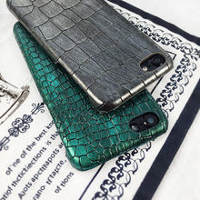 Luxury 3D Crocodile Skin Pattern Phone Case for iPhone 8 7 6 S 6S Plus Hard PC Vintage Leather Back Cover for iphone X 8Plus NEW vorson woven pattern leather coated pc back case for iphone 6s plus 6 plus grey
