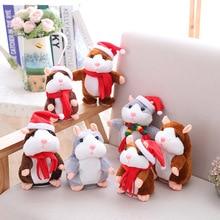 Hamster Toys Talk Speak Stuffed Plush-Animal Kawaii 15cm Sound-Record-Repeat Promotion