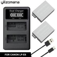 купить YILIZOMANA LP-E8 LPE8 LP E8 Camera Battery 7.4V 1200mAh For Canon EOS 550D 600D 650D 700D Rebel T2i T3i T4i T5i SLR дешево