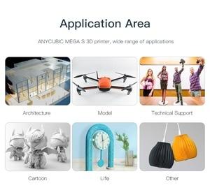 Image 4 - ANYCUBIC i3 ميجا ميجا S طابعة ثلاثية الأبعاد حجم كبير منصة الطباعة الإطار المعدني الكامل عالية الدقة FDM ثلاثية الأبعاد مجموعة الطابعة impresora ثلاثية الأبعاد