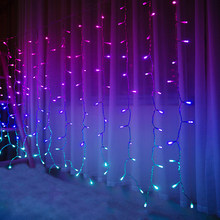 String Lights Girls Room Decor Curtain Lights 192L LED for Ceiling Indoor Wedding Party Christmas Multicolor