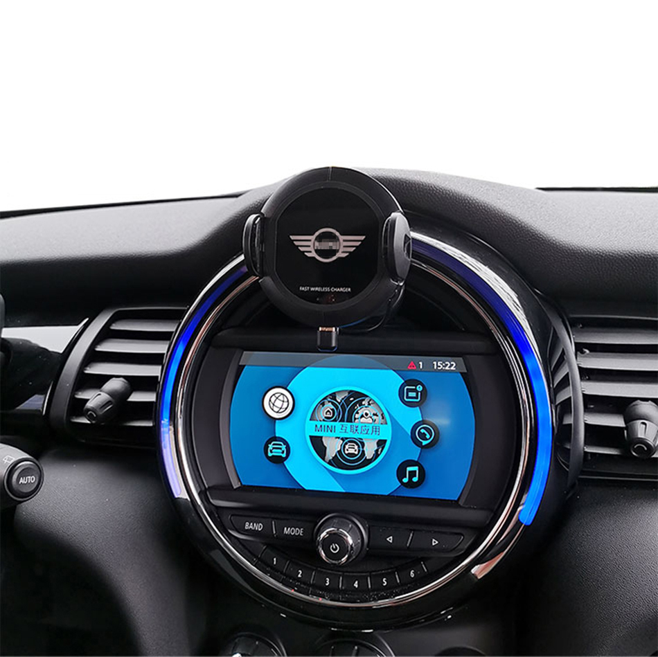 L Infrared Sensor Automatic Qi Fast Wireless Car Phone Charger for Mini Cooper S JCW One F54 F55 F56 F60 4