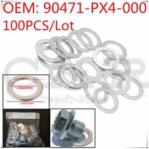 Image 1 - [100PCS] 90471 PX4 000 90471PX4000 Reparatur Kit Öl Ablauf Stecker Dichtungen für Honda Accord CR V Civic Odyssey für Acura MDX RDX TSX